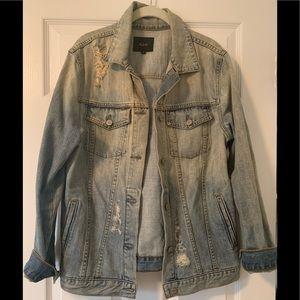 Rails Distressed Denim Jacket, Size Medium
